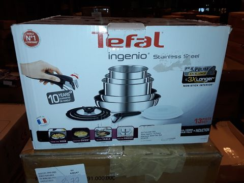 Lot 8286 TEFAL INGENIO STAINLESS STEEL COOKWARE SET