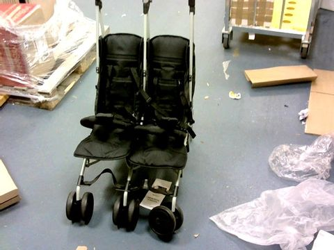 """Lot 7251 MY BABIIE MAWMA NICOLE """"SNOOKI"""" POLIZZI MARBLE DOUBLE STROLLER RRP £224.99"""