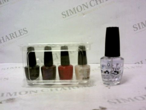 Lot 8090 LOT OF 2 ASSORTED OPI SHINE BRIGHT MINI LACQUER CRACKERS