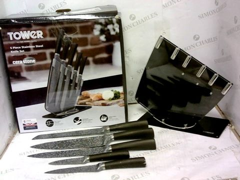 Lot 328 TOWER 5 PIECE STAINLESS STEEL KNIFE SET