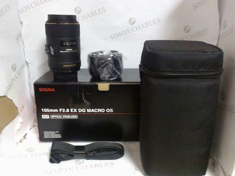 Lot 4615 BOXED SIGMA 105MM F/2.8 EX MACRO DG HSM OPTICAL STABILISER LENS FOR NIKON RRP £499.99