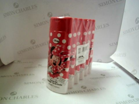 Lot 7502 BOX OF 24 DISNEY MINNIE MOUSE RASPBERRY SHOWER GELS