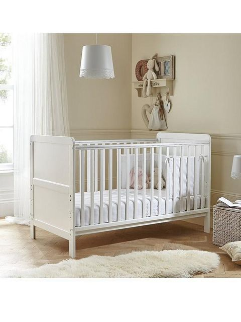 Lot 78 BOXED LITTLE ACORNS WHITE CLASSIC COT BED (1 BOX) RRP £130.00