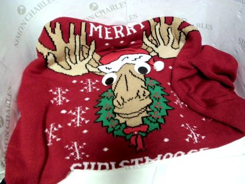 Lot 13001 H&M MERRY CHRISTMOOSE CHRISTMAS JUMPER SIZE L