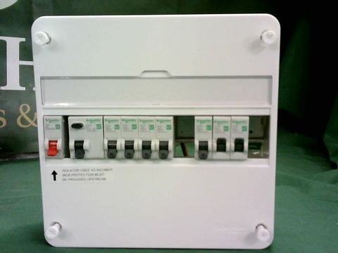 Lot 1045 SCHNEIDER ELECTRIC 7 WAY 1 ROW CONSUMER UNIT