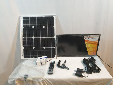 Lot 1118 CELLO C22277T2S1 22″ INCH BATTERY OPERATED & SOLAR LED TV