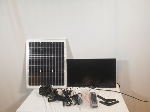 Lot 724 CELLO C22277T2S1 22″ INCH BATTERY OPERATED & SOLAR LED TV