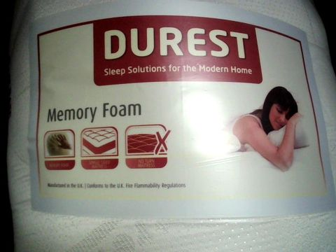 Lot 4002 DUREST MEMORY FOAM MATTRESS