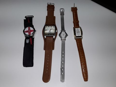 Lot 3080 LOT OF 4 ASSORTED FASHION WATCHES