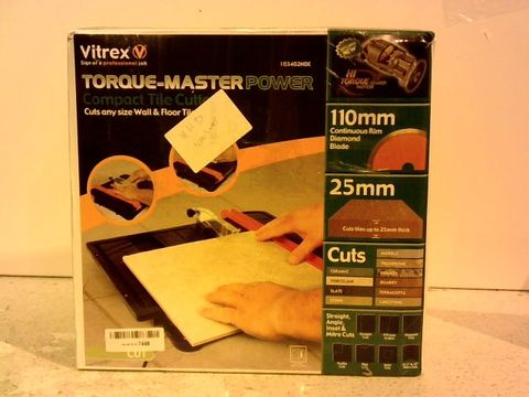Lot 13009 VITREX TORQUE-MASTER POWER COMPACT TILE CUTTER