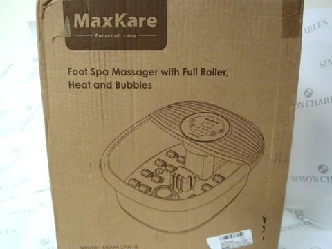 Lot 1539 MAXKARE FOOT SPA MASSAGER WITH HEATER, MASSAGER WITH VIBRATION AND BUBBLE, TEMPERATURE CONTROLLED