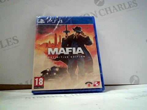 Lot 8013 MAFIA: DEFINITIVE EDITION PLAYSTATION 4 GAME