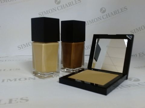 Lot 9456 BOX OF APPROXIMATELY 65 ASSORTED BRAND NEW MAKE UP ITEMS TO INCLUDE UMBER FOUNDATION, MOHAWK BRONZING POWDER, LATTE FOUNDATION, ETC