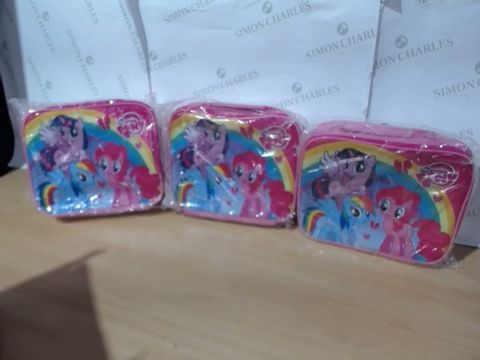 Lot 1110 3 BRAND NEW MY LITTLE PONY LUNCHBAGS (1 BOX)