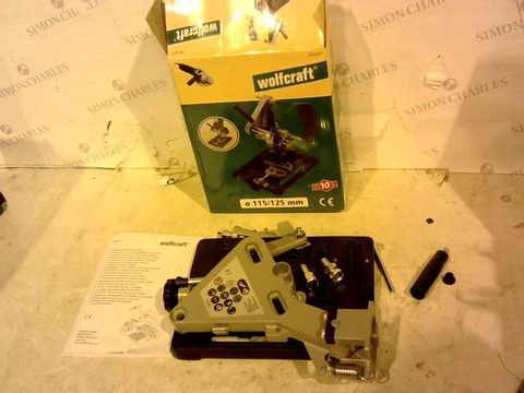 Lot 12382 WOLFCRAFT 5019000 CUTTING STAND FOR ONE-HAND ANGLE GRINDERS