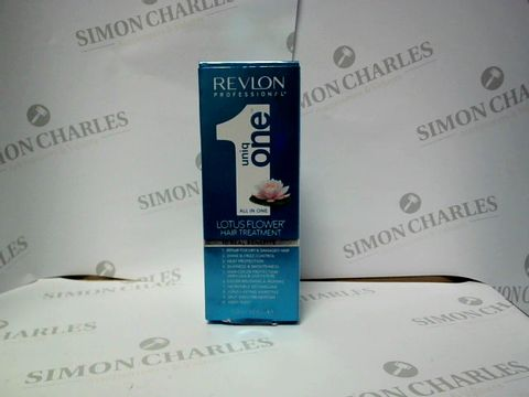 Lot 9287 REVLON PROFESSIONAL UNIQ ONE ALL IN ONE LOTUS FLOWER HAIR TREATMENT