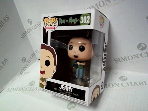 Lot 61 POP! ANIMATION RICK AND MORTY JERRY VINYL FIGURE 302