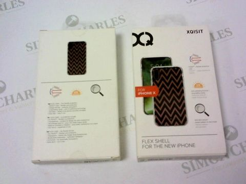 Lot 140 A BRAND NEW BOX OF APPROXIMATELY 6 XQISIT PHONE CASES FOR IPHONE X