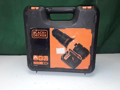 Lot 239 BLACK & DECKER 18V 2G HAMMER DRILL