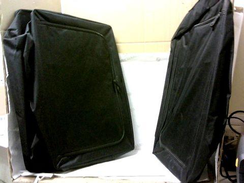 Lot 10418 PERIEA SET OF 2 LARGE COLLAPSIBLE STORAGE BOXES - BLACK