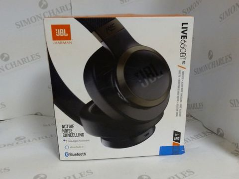 Lot 10048 JBL LIVE 650 BTNC WIRELESS OVER-EAR NOISE-CANCELLING HEADPHONES WITH ALEXA BUILT-IN, GOOGLE ASSISTANT AND BLUETOOTH