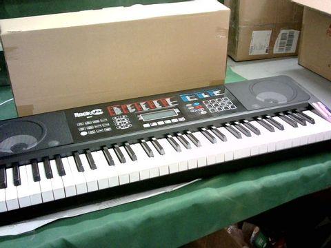Lot 162 ROCKJAM RJ761-SK KEY ELECTRONIC INTERACTIVE TEACHING PIANO KEYBOARD