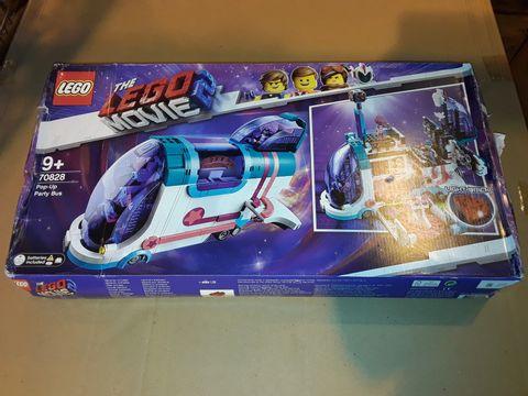 Lot 12347 LEGO MOVIE 70828 POP UP PARTY BUS SET