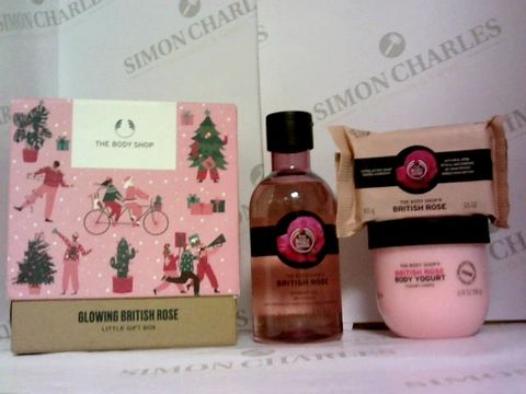 Lot 6038 THE BODY SHOP GLOWING BRITISH ROSE LITTLE GIFT BOX
