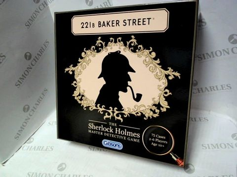Lot 6051 GIBSONS 221B BAKER STREET SHERLOCK HOLMES MASTER DETECTIVE GAME  10+
