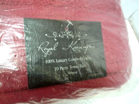 Lot 132 ROYAL KENSINGTON 10 PIECE TOWEL BALE - BURGUNDY