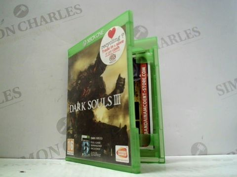 Lot 3049 DARK SOULS III XBOX ONE GAME