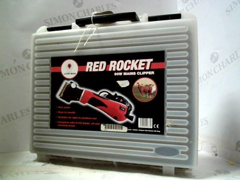 Lot 243 LIVERYMAN RED ROCKET 90W MAINS CLIPPER ( FOR ANIMALS)