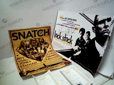 Lot 1845 VINNIE JONES SIGNED SNATCH POSTER, SIGNED LOCK. STOCK & TWO SMOKING BARRELS POSTER WITH CERTIFICATES