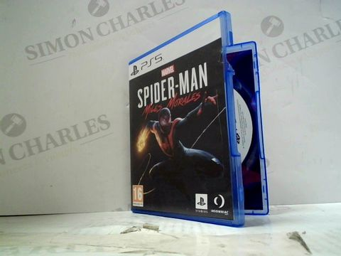 Lot 14 MARVEL SPIDER-MAN MILES MORALES PLAYSTATION 5 GAME