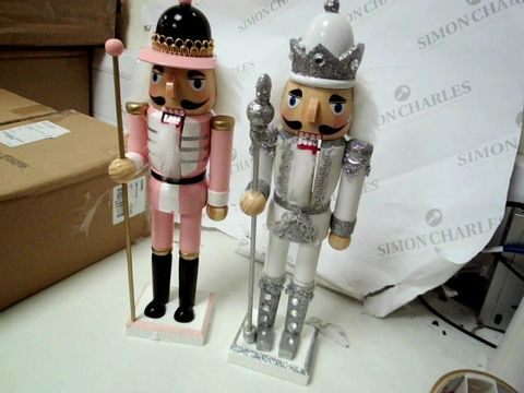 Lot 235 THREE SETS OF 2 WOODEN NUTCRACKERS RRP £99.00