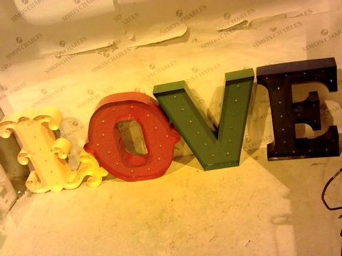 Lot 1067 MULTICOLOURED LED LOVE SIGN