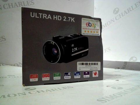 Lot 8268 BOXED ULTRA HD 2.7K VIDEO CAMERA