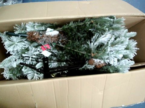 Lot 11051 WERCHRISTMAS SNOW FLOCKED MIXED PINE CHRISTMAS TREE