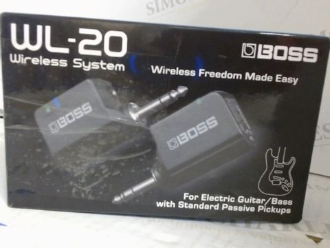 Lot 7525 BOSS WL-20 WIRELESS PICKUP SYSTEM FOR GUITAR