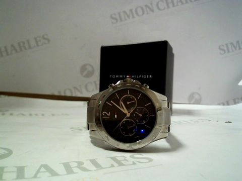 Lot 4010 TOMMY HILFIGER HAVEN GUNMETAL STAINLESS STEEL GREY SUNRAY DIAL LADIES WATCH RRP £219.00