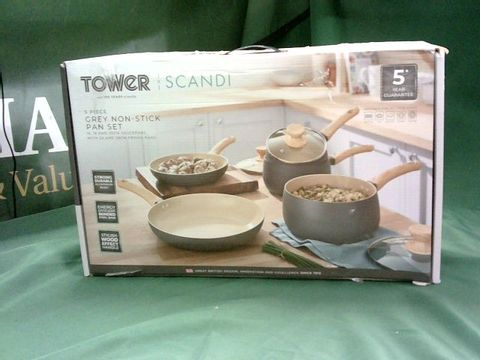 Lot 4079 TOWER SCANDI POTS AND PANS SET