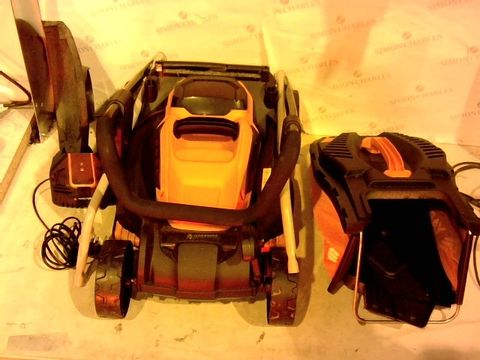 Lot 1643 YARD FORCE 32CM ROTARY CORDLESS LAWNMOWER AND GRASS TRIMMER TWIN PACK