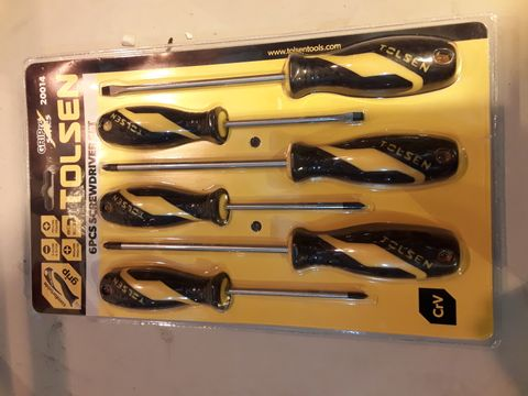 Lot 4 TOLSEN 6 PIECE SCREWDRIVER SET