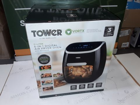 Lot 8243 TOWER 5-IN-1 MANUAL AIR FRYER OVEN WITH ROTISSERIE 11L