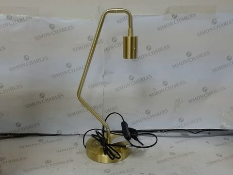 Lot 644 TATE TABLE LAMP - GOLD RRP £35.00