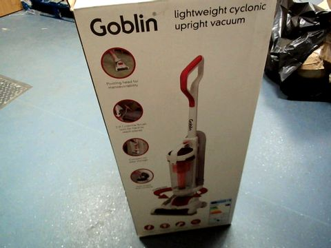 Lot 10381 GOBLIN LIGHTWEIGHT CYCLONIC UPRIGHT VACUUM CLEANER