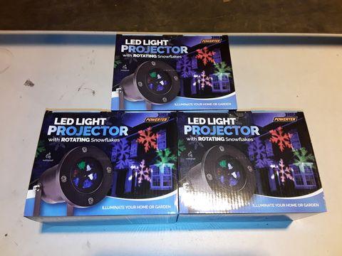 Lot 3221 LOT OF 3 LED SNOWFLAKE PROJECTORS (3 BOXES)