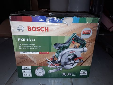 Lot 251 BOSCH CORDLESS CIRCULAR SAW PKS 18 LI