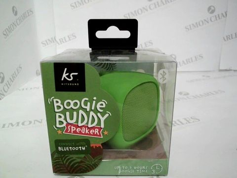 Lot 2462 BRAND NEW BOXED KITSOUND BOOGIE BUDDY SPEAKER - GREEN