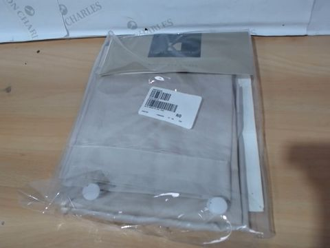Lot 3416 K BY KELLY HOPPEN SET OF 2 OXFORD PILLOW CASES - PUTTY